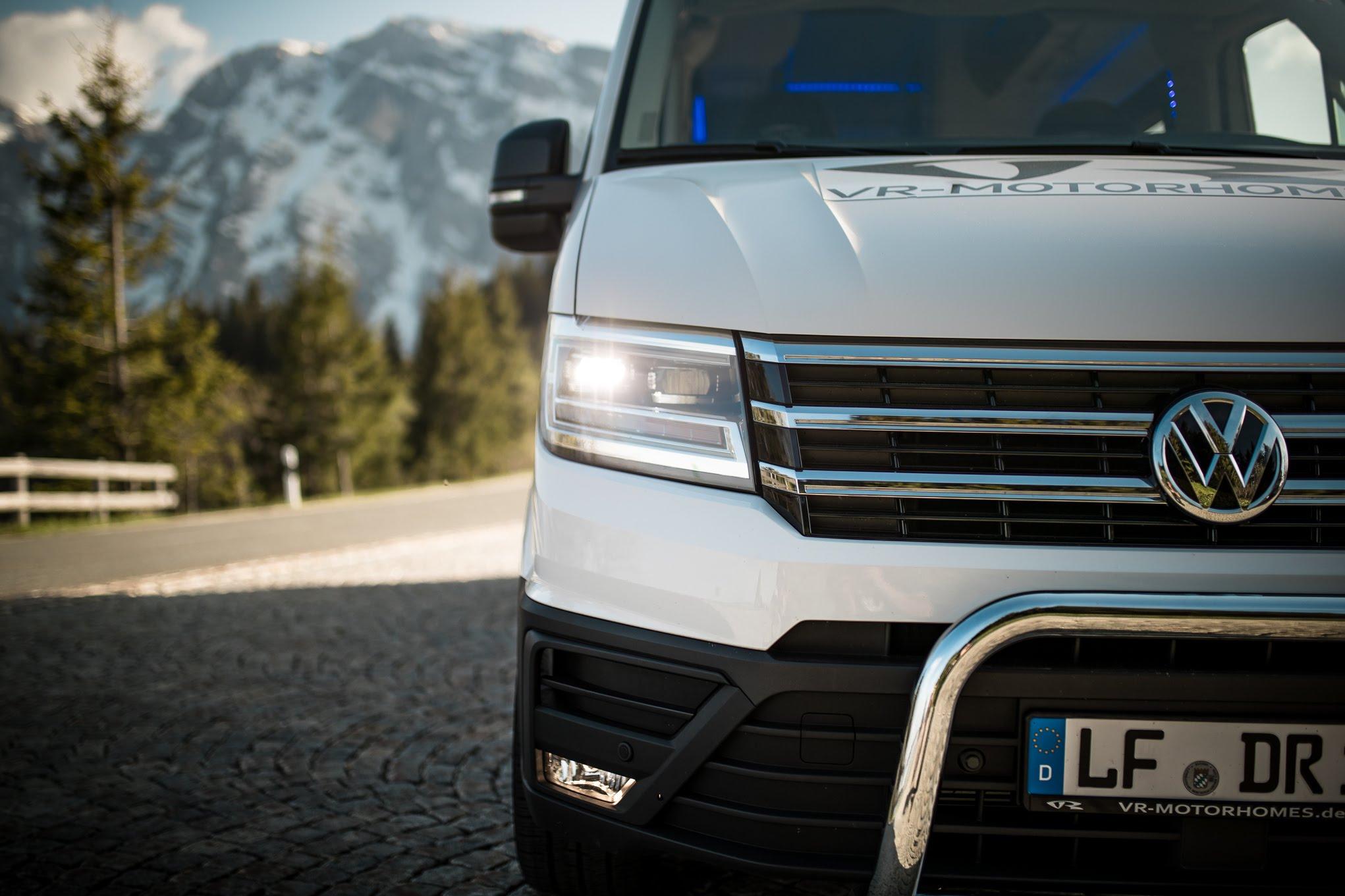 volkswagen new vw crafter 2018 2019 2020 led tagfahrlicht  vr motorhomes l4h3 l5h3 gfk superhochdach