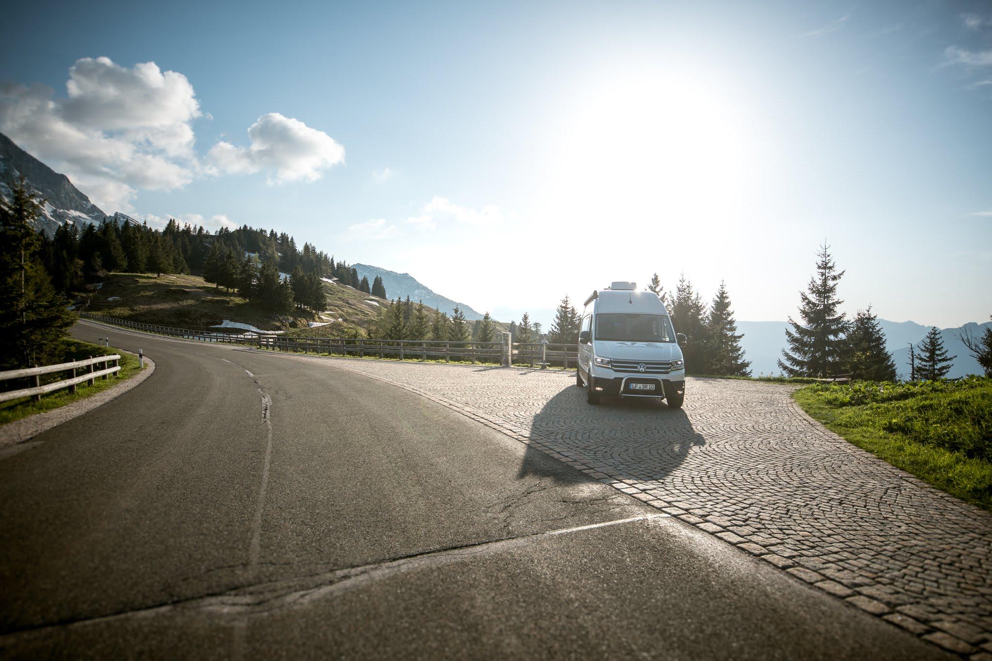 grosser kastenwagen groesster transporter vw crafter vr-motorhomes