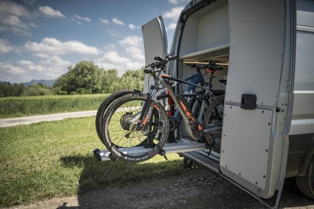 heckgarage ebiker e-bikes dream ladefläche citroen jumper vw crafter man tge
