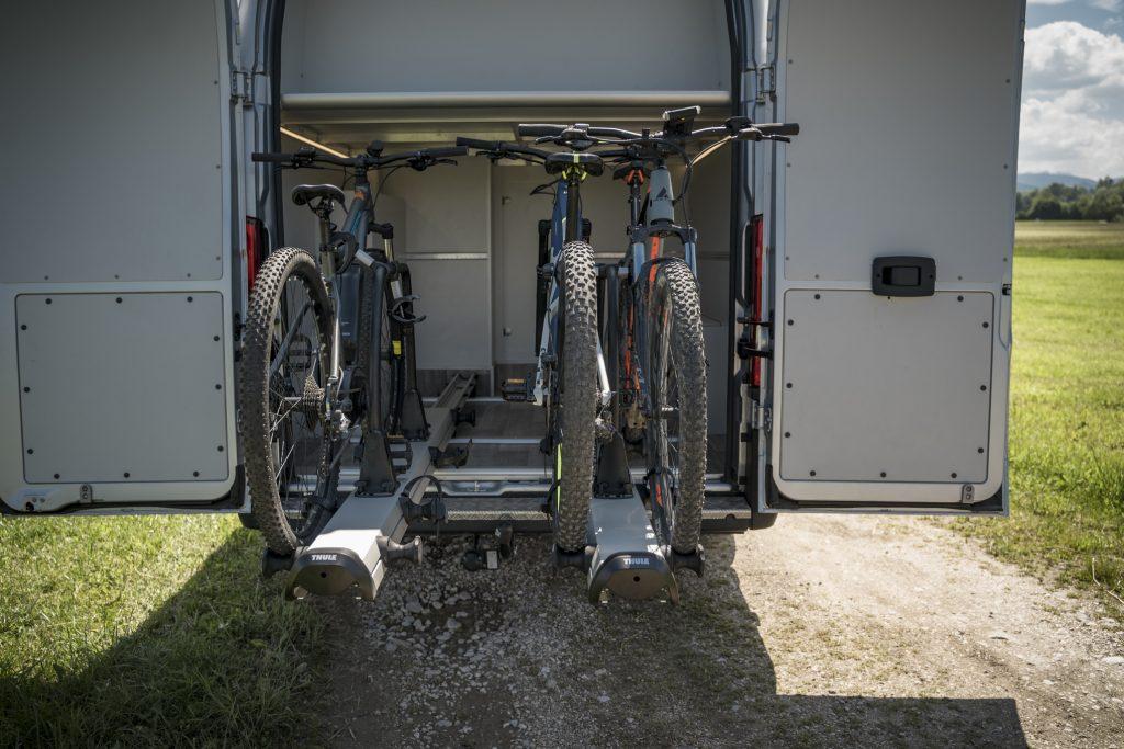 e-bike heckgarage, ebikegarage garage für e-bikes elektro fahrräder Elektrofahrrad husqvarna lc5 lc6 lc7 mc6 mc8 ebike heckgarage ebiker e-bikes dream ladefläche citroen jumper vw crafter man tge