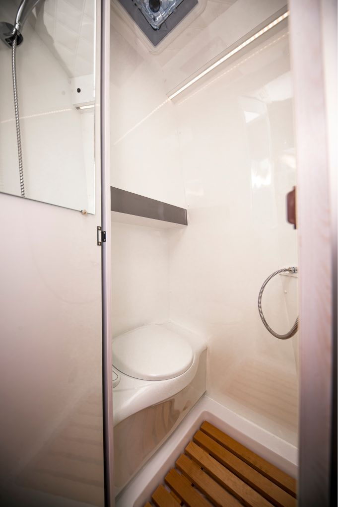 camper toilett WC fix toilettenbank thule dometic van transporter dusche clo klo spiegel