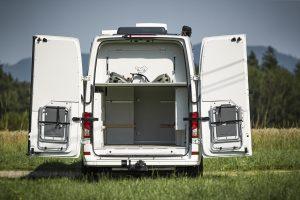 Heckgarage allrad camper motorradgarage patent bett system froli